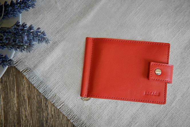 Красный зажим для денег купить, бренд EZCASE